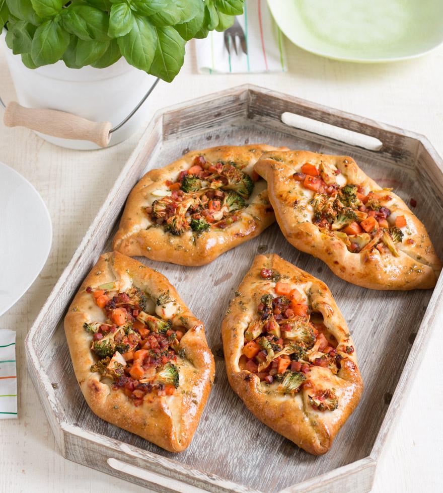 Pizzaschuitjes met broccoli - Tante Fanny