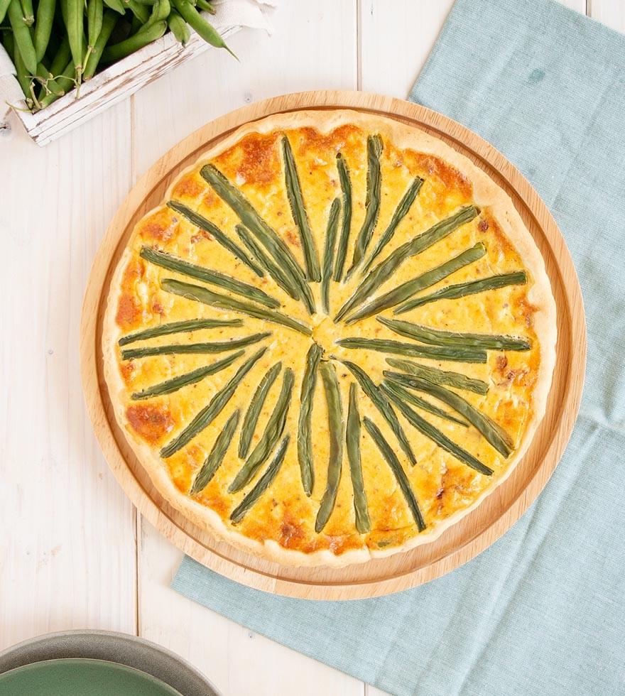 Quiche met sperziebonen en gedroogde tomaat - Tante Fanny verse degen