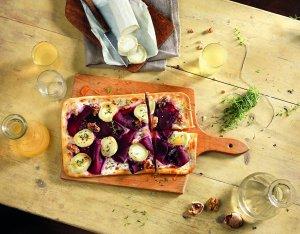 Recept: flammkuchen geitenkaas en rode bieten