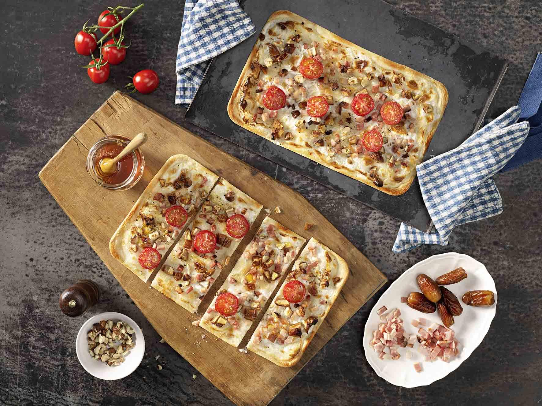 Recept: Flammkuchen met tomaat en dadels - Tante Fanny