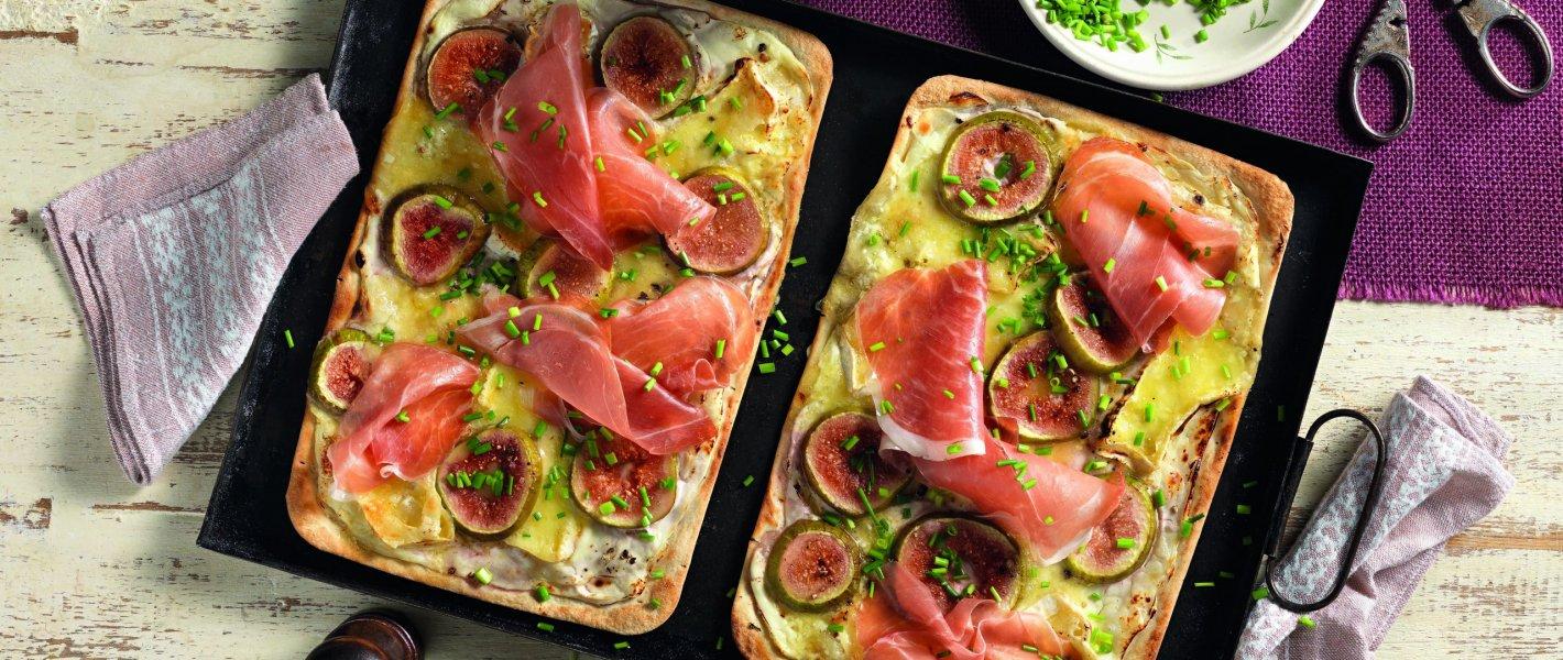 Recept: flammkuchen met camembert, prosciutto en vijgen - Tante Fanny