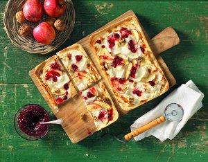 Recept: flammkuchen met appel en geiten camembert