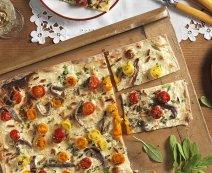 Recept: flammkuchen met bonte tomaten