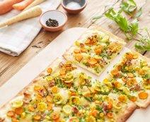 Recept: flammkuchen met pastinaak en wortel