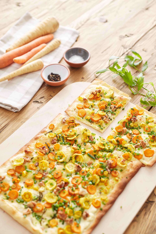 Recept: flammkuchen met pastinaak en wortel - Tante Fanny