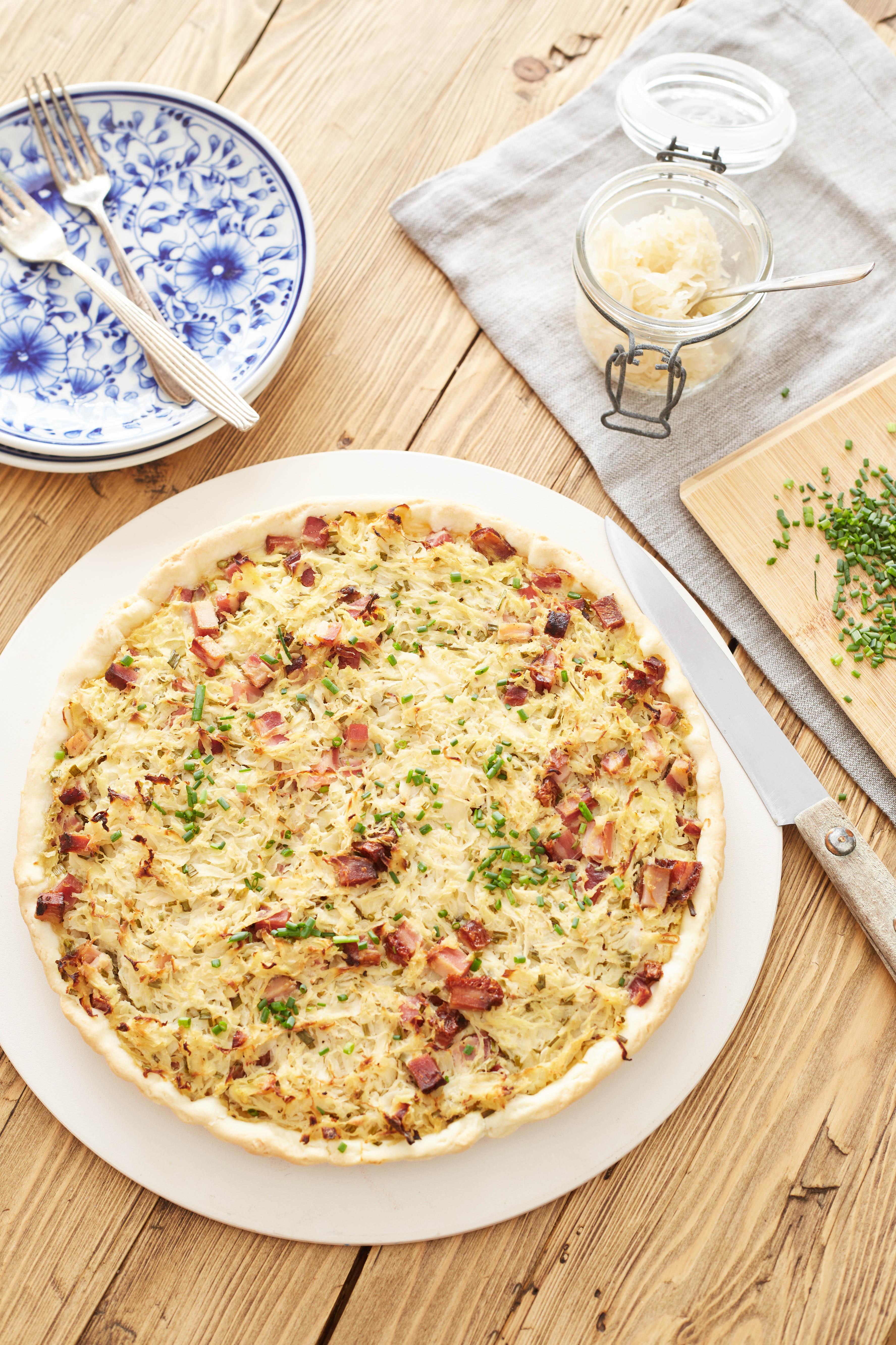 Recept: Quiche met zuurkool - Tante Fanny