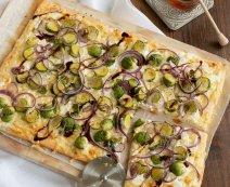 Recept: pizza met spruitjes