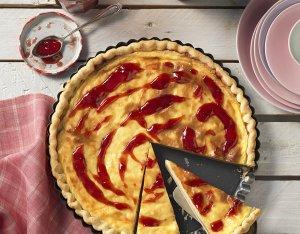 Recept: eenvoudige puddingtaart met jam