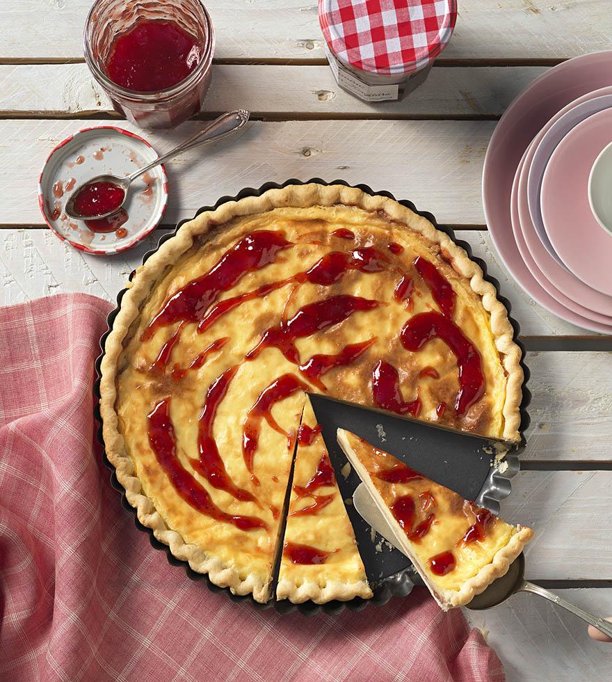 Recept: eenvoudige puddingtarat met marmelade - Tante Fanny