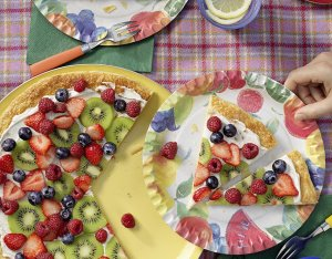Recept: zoete pizza met fruit