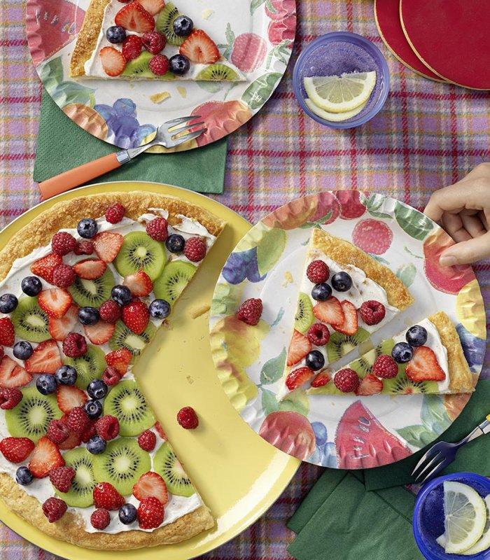 Zoete pizza met fruit - Tante Fanny