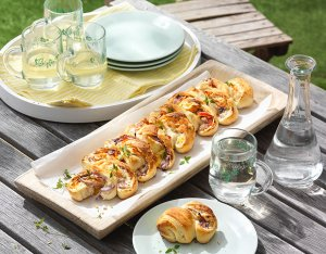 Recept: pizzabrood met zalm