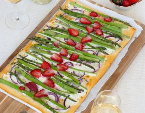 Recept: pizza Bianca met groene asperges
