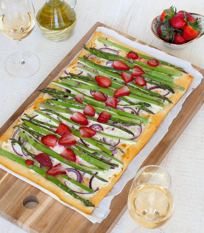 Recept: pizza Bianca met groene asperges - Tante Fanny