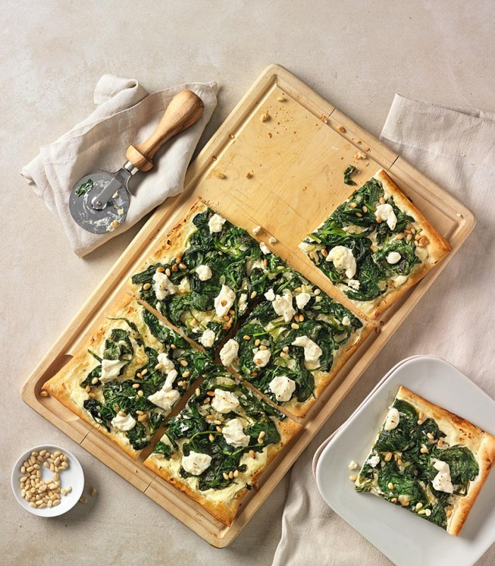 Recept: pizza Bianca met spinazie en ricotta