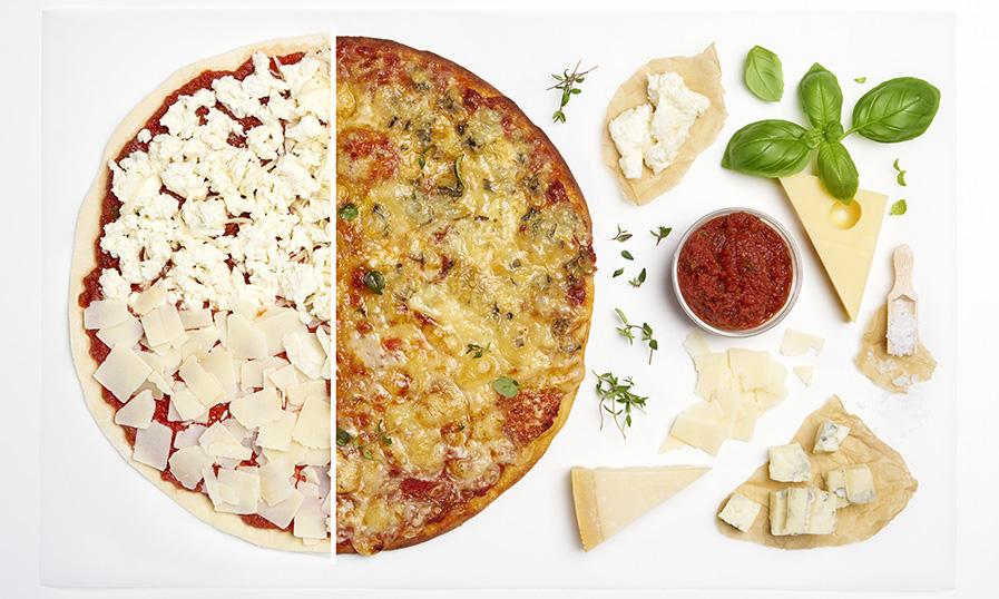 Recept: rustieke pizza met 4 soorten kaas - Tante Fanny