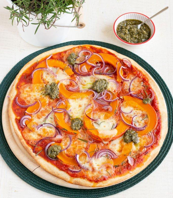 Rustieke pizza met pompoen - Tante Fanny