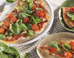 Recept: rustieke pizza met champignon en mozzarella