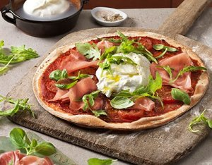 Recept: rustieke pizza burrata