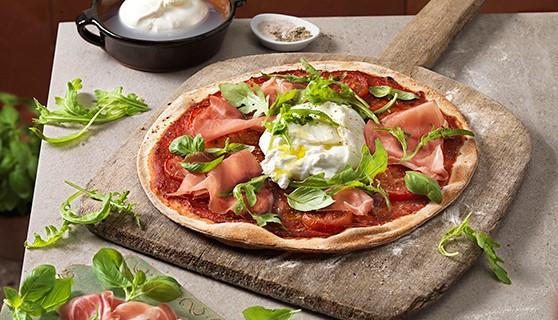 Rustieke pizza burata - Tante Fanny