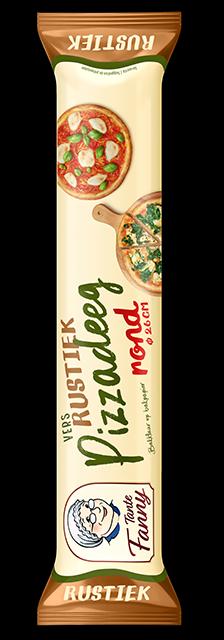 Vers Rustiek Pizzadeeg rond