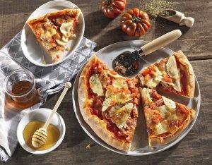 Recept: rustieke pizza met ham en appel