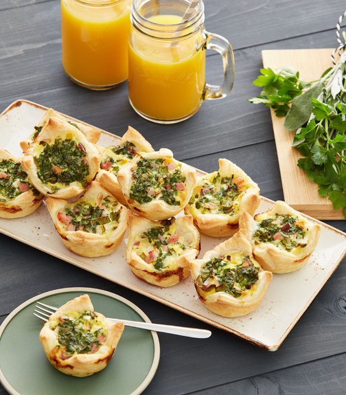 Mini quiches van bladerdeeg met verse kruiden - Tante Fanny