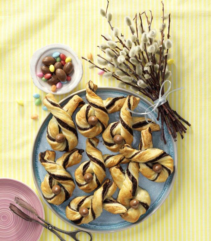 Recept: paashaasjes van bladerdeeg met pasta - Tante Fanny