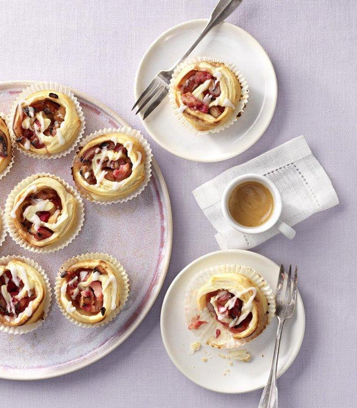 Rabarber muffins vegan - Tante Fanny