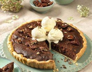 Recept: chocolade brownietaart met ijs