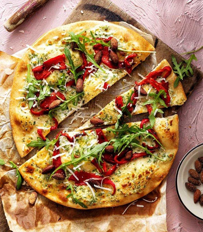 pizza met paprika - Tante Fanny pizza rustiek